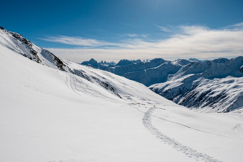 Skialp v Alpách - Kreuzspitze 2.624 m n.m.