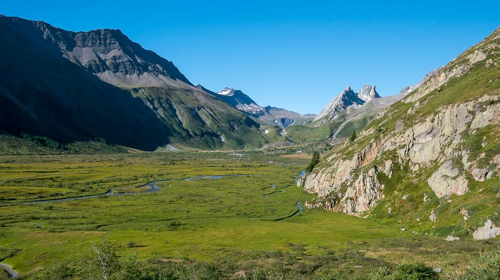 Rozľahlé údolie Val Veny