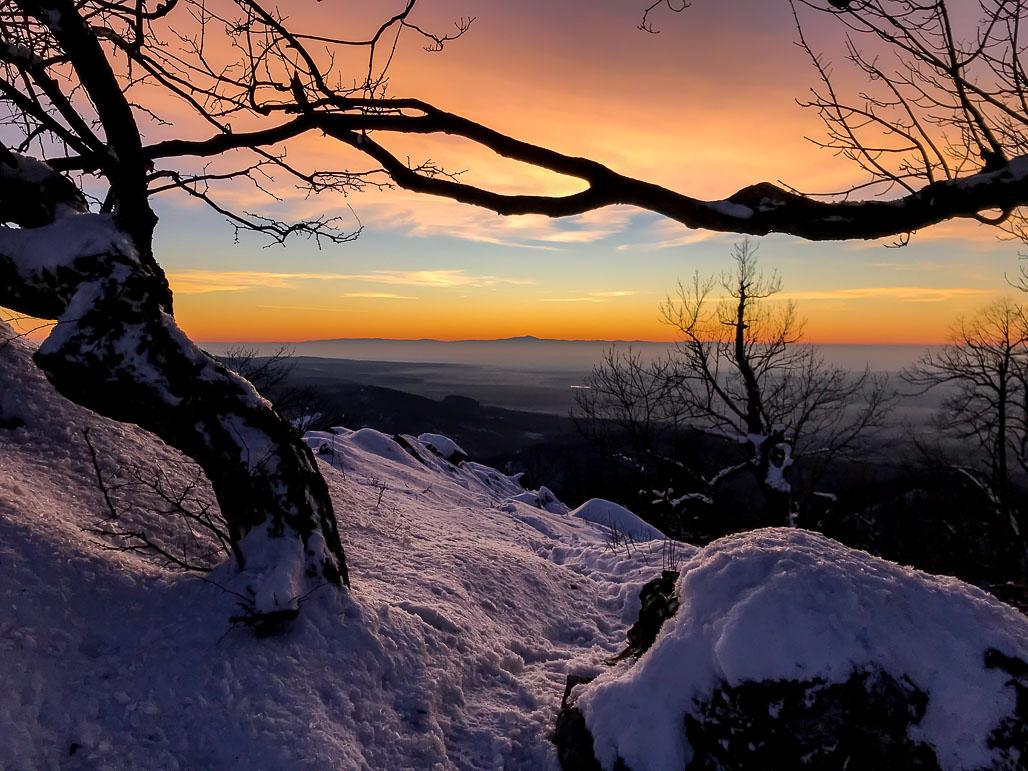 Západ slnka na kopci Vysoká